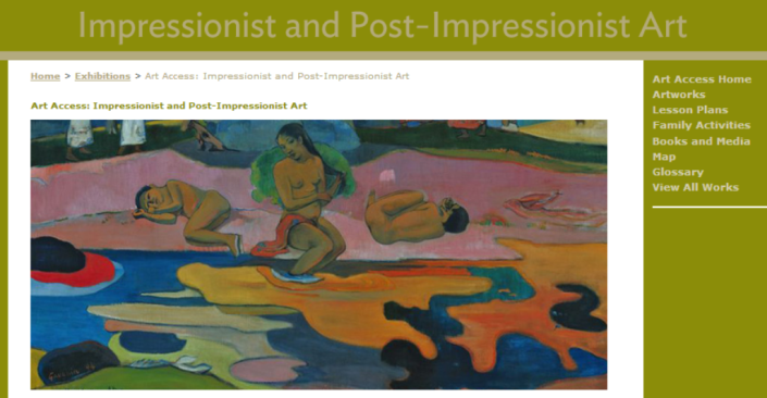 Art Access: Impressionist and Post Impressionist Art The Art Institute of Chicago