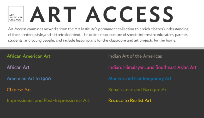 The Art Institute of Chicago: Art Access