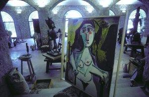 Interior of Picasso's workshop at Notre-Dame-de-Vie, Mougins, France, 1967