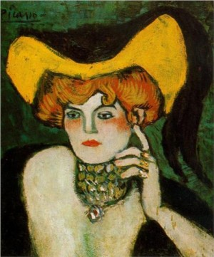 Pablo Picasso, Woman with Necklace of Gems, 1901