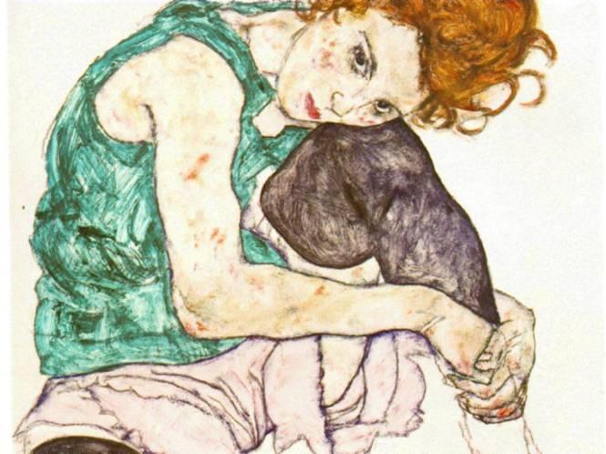 Egon Schiele: Sitting Woman with Legs Drawn Up (1917)