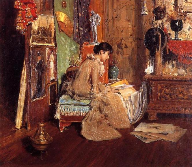William Merritt Chase, In the Studio Corner, c. 1881