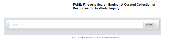 FASE: Fine Arts Search Engine | A Curated Collection of Resources for Aesthetic Inquiry