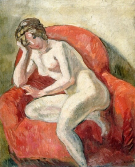 Louis Valtat, Seated Nude,  1913. Oil on canvas, 81.4 x 65.4 cm. (32 x 25¾ in.). Private Collection.